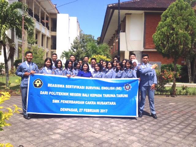 Beasiswa Poltek Negeri Bali Kepadai Siswa SMK Penerbangan Cakra Nusantara