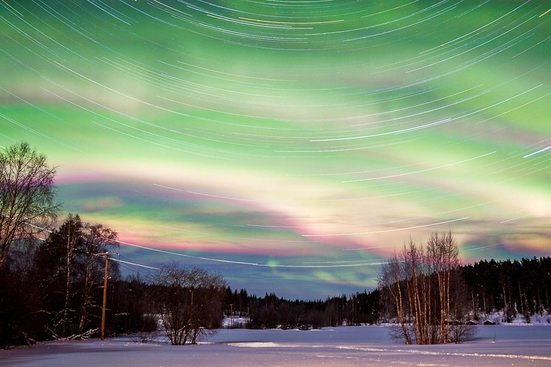 Startrails and Aurora