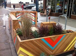 Launch Event. Ocean Ave Portable Parklet by Youth Art Exchange. Photo courtesy of artist. | by sfplanning