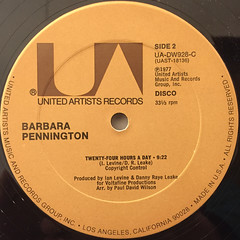 BARBARA PENNINGTON:TWENTY-FOUR HOURS A DAY(LABEL SIDE-B)