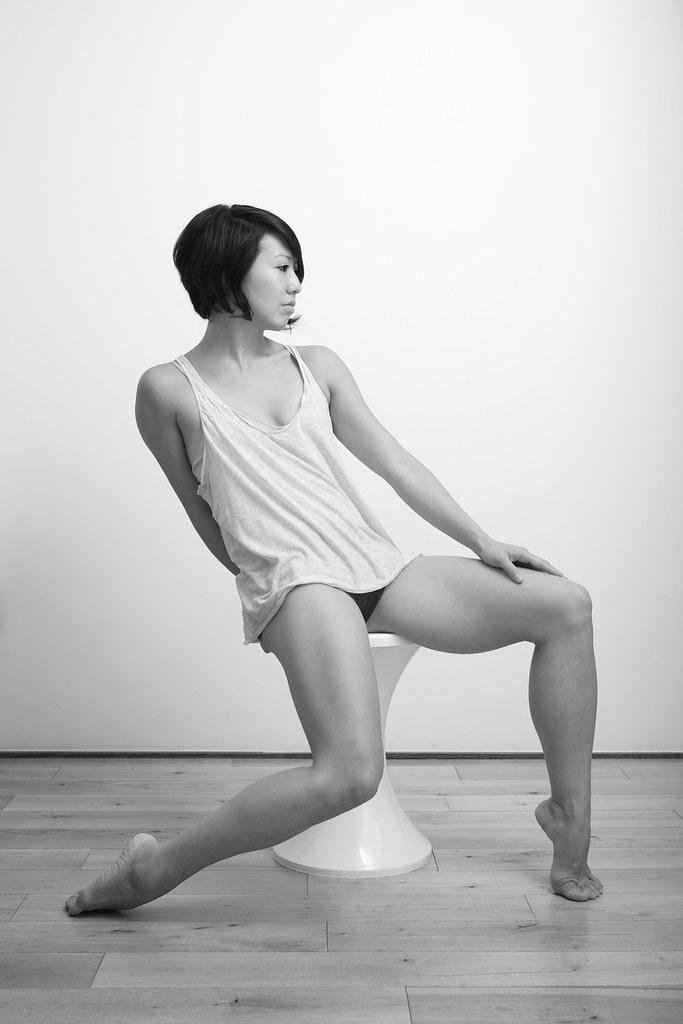 Barefoot standing Sexy girl