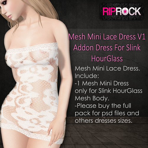RipRock - Mesh Lace Mini  Dress V1 Vendor addon hourglass