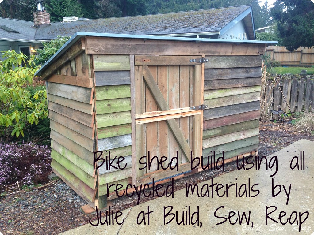 The Bike Garage Build by Julie at Build, Sew, Reap