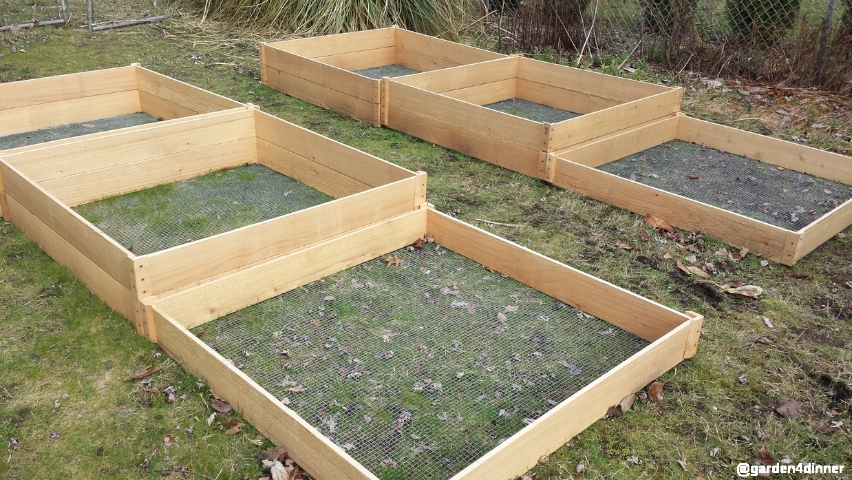 new raised garden beds in work