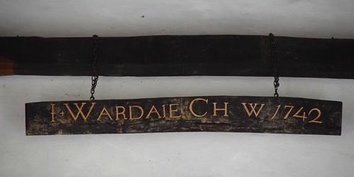 J Wardale Ch(urch) W(arden) 1742