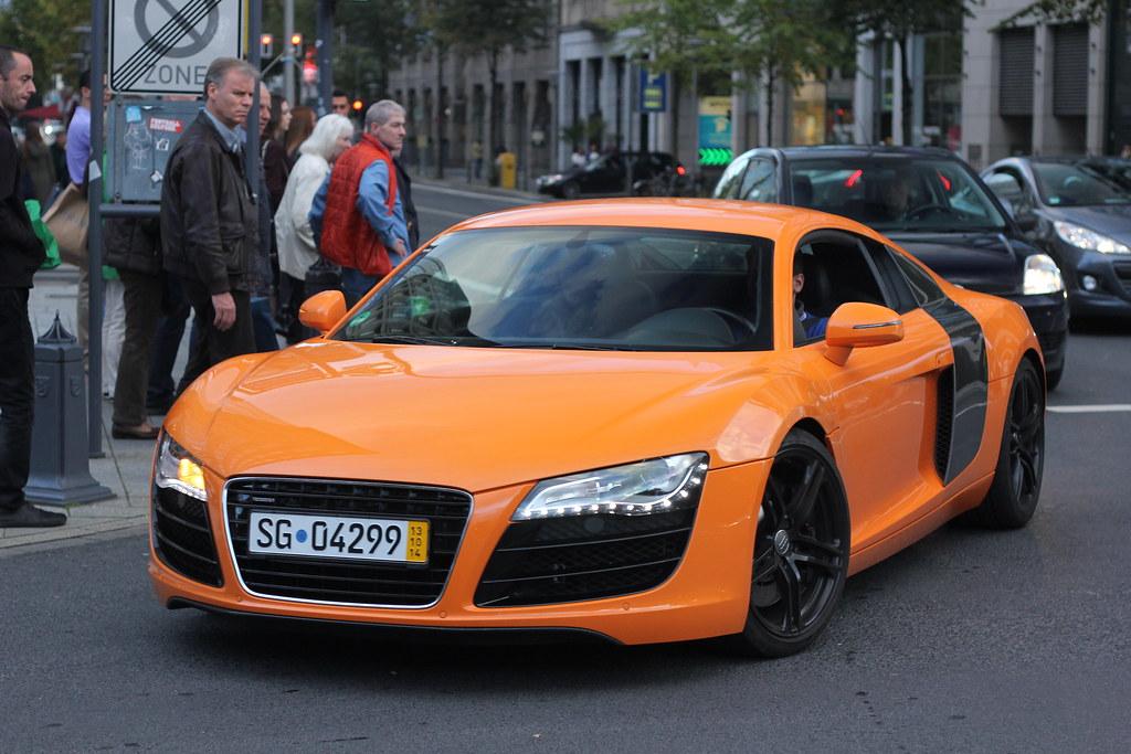 Orange Audi R V Follow Me On Facebook Wwwfacebookcom Flickr - Audi r8 v8