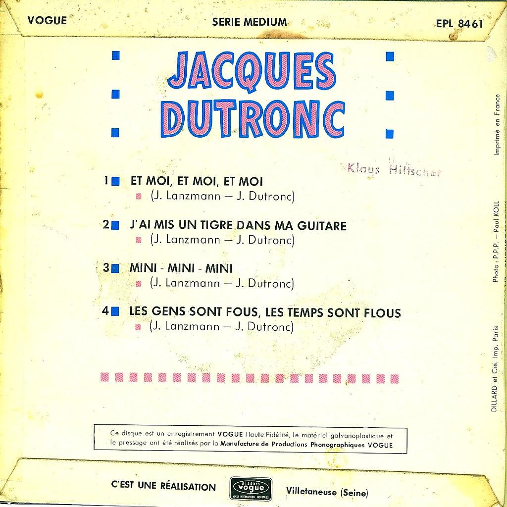 1 Dutronc Jacques Et Moi Et Moi Et Moi Ep F 196 Flickr