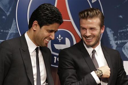 Nasser and David Beckham