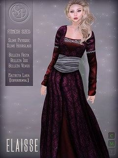 """Elaisse"" Gown (Fitted Mesh) 