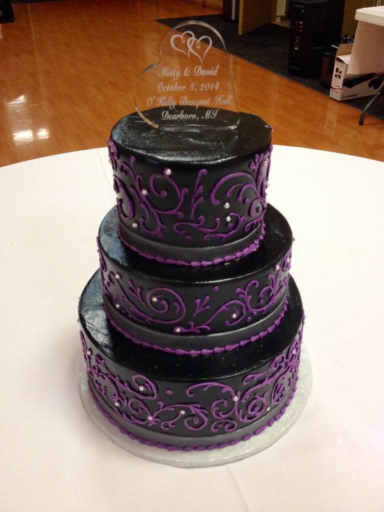 Purple Black & Silver Wedding Cake | Grace-ful Cakes | Flickr