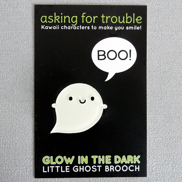 Glow in the Dark Little Ghost Brooch