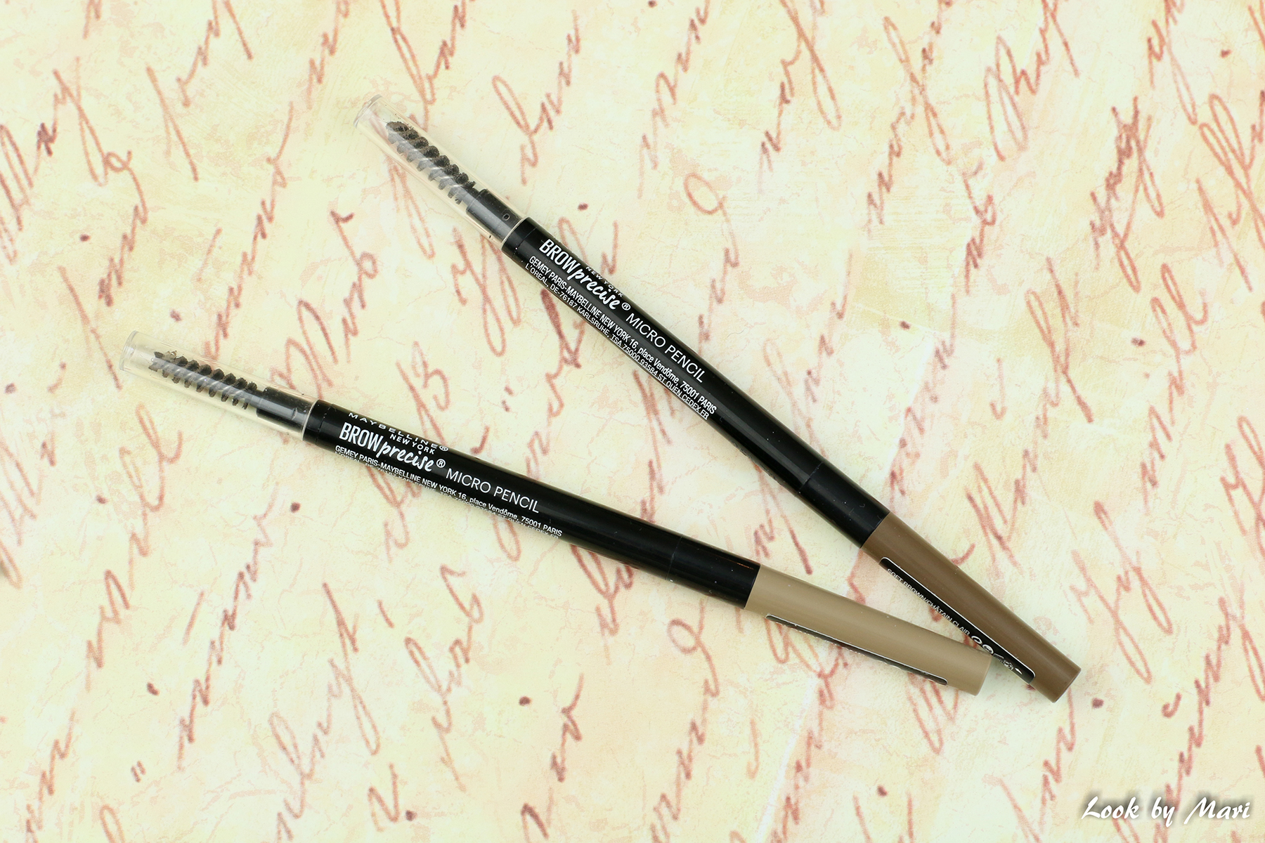 2 maybelline brow precise micro pencil review pencils blonde soft brown swatch swatches