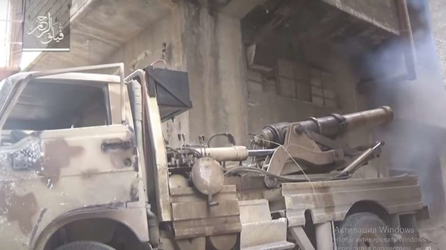 Syria-truck-cannon-faylaq-al-rahman-damascus-area-2016-tfb-1
