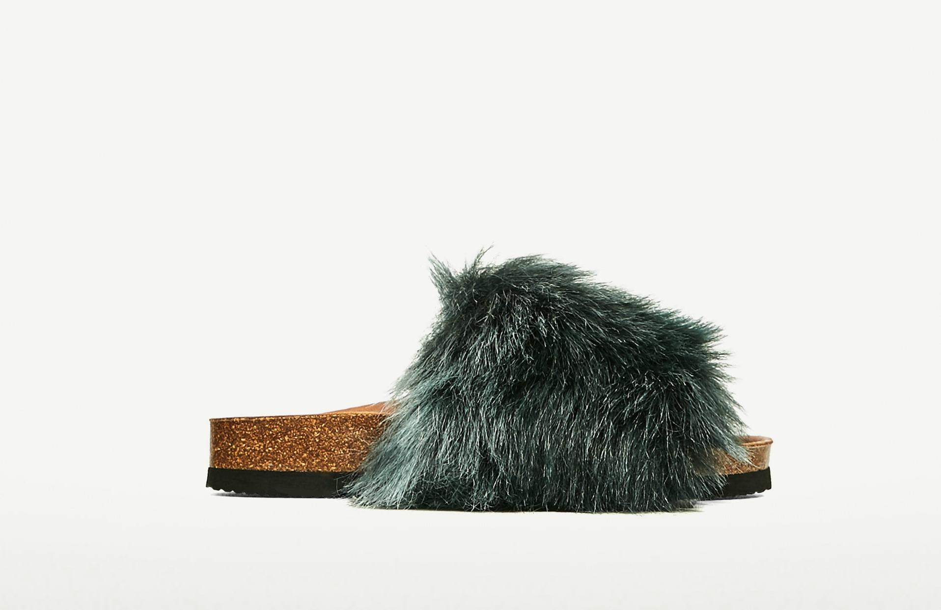 sandalias de pelo Zara