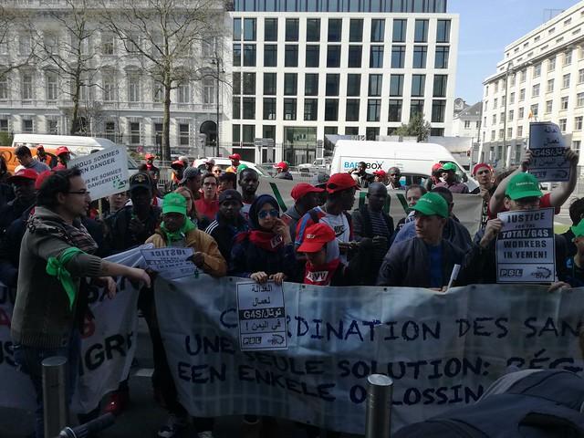 Sans papiers solidair met arbeiders in Jemen
