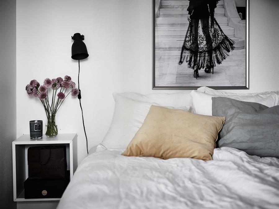 Small But Glamorous Scandinavian Apartment