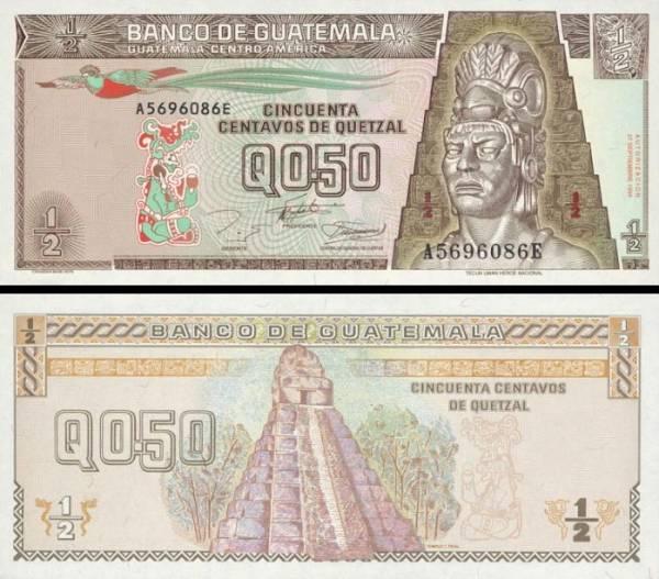 1/2 Quetzal Guatemala 1994, P86b