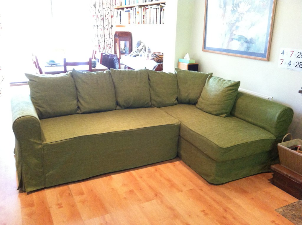 ... Moheda Sofa Covers In Nomad Green | By Comfort Works Custom Sofa Cover