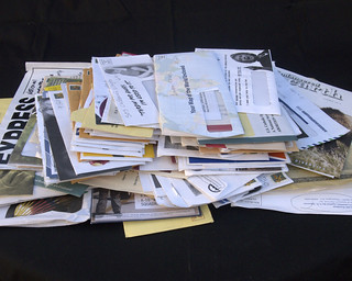 Pile of junk mail | by Judith E. Bell