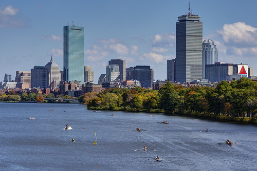 Boston skyline from the BU Bridge on Head of the Charles Regatta Weekend - 2014 HDR | by BillDamon