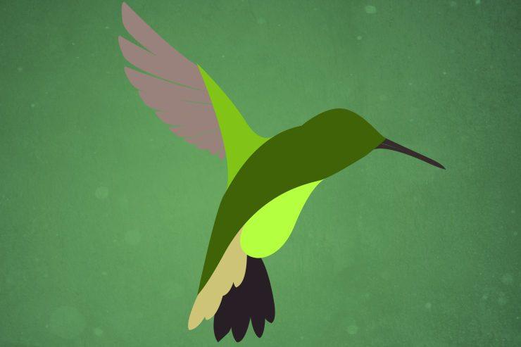 птица в дыме в Фотошоп