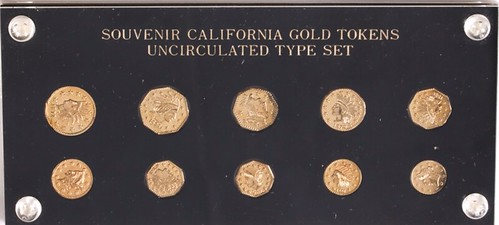 Souvenir California Gold Tokens holder