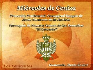 Miercoles de Ceniza, Procesión Penitencial Jesús Nazareno de la Justicia