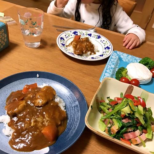 外泊最後の夕食