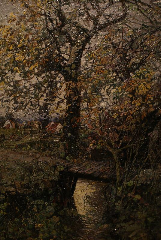 """Eugen Burket, """"Arbre au dessus d'un ruisseau"""" (1914)"""