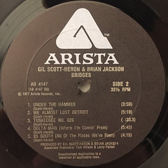 GIL SCOTT-HERON AND BRIAN JACKSON:BRIDGES(LABEL SIDE-B)