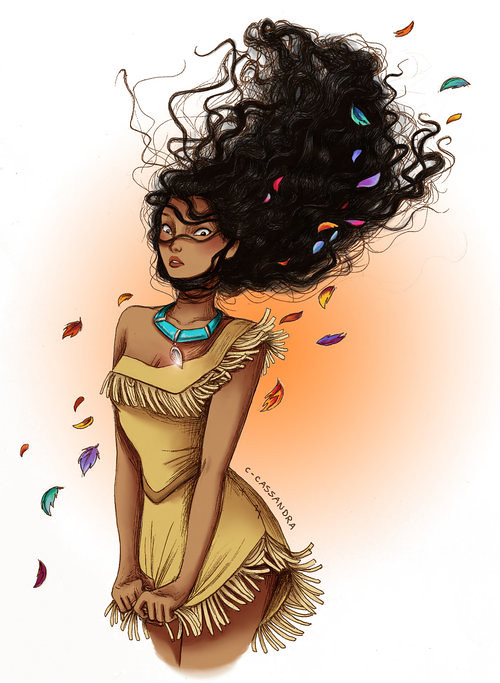 Disney Princesses The hair struggle is real by C. Cassandra - Pocahontas