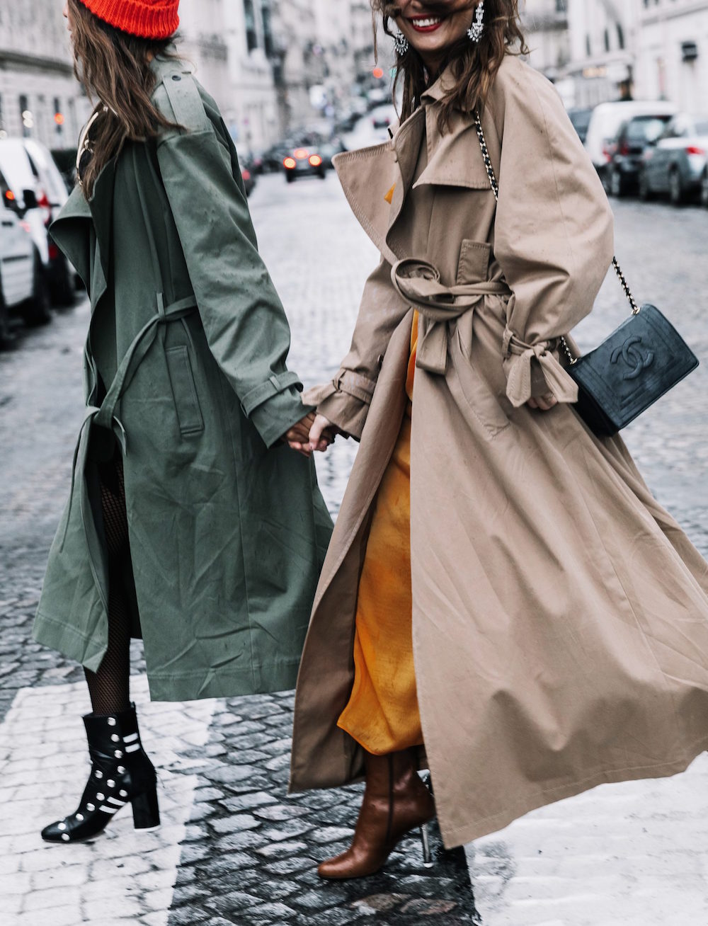 PFW-Paris_Fashion_Week_Fall_17-Street_Style-Collage_Vintage-Trench_Coat-Sincerely_Jules-Vetements_Boots-JW_Pierce_Bag-Fishnet_Tights-77-1800x2355