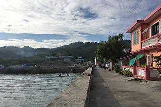 Sibale island - Poblacion sea wall north