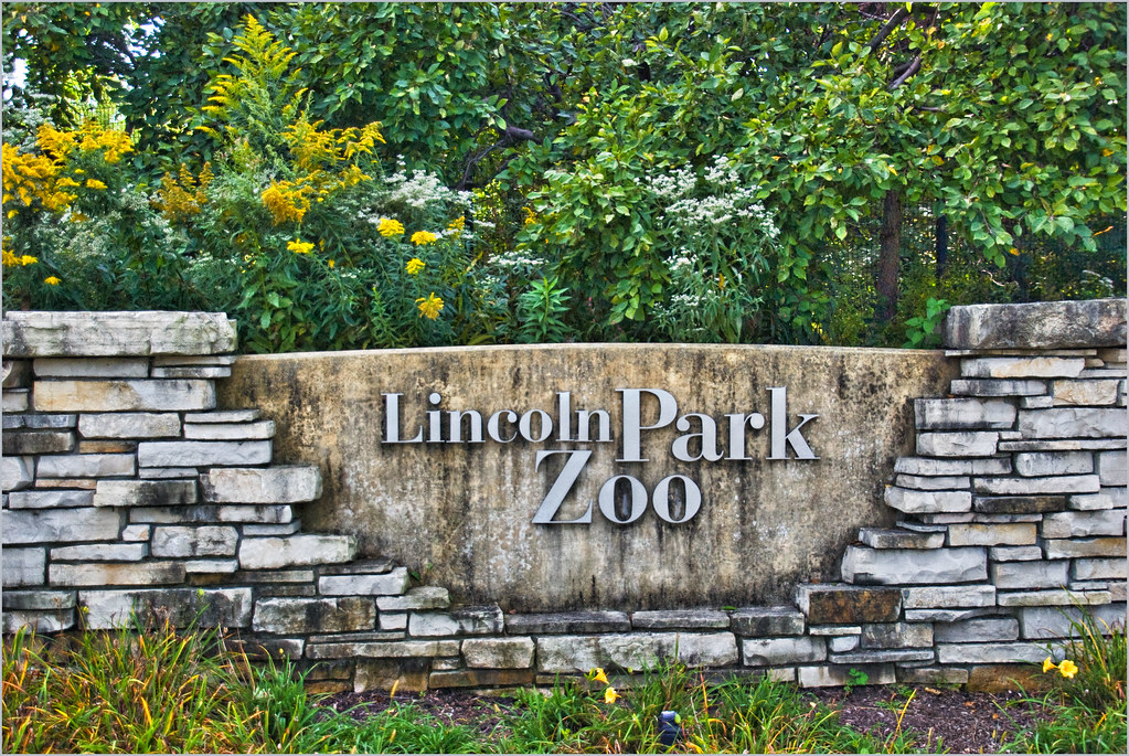 Lincoln Park Zoo Entrance Sign Chicago Il September 2 Flickr