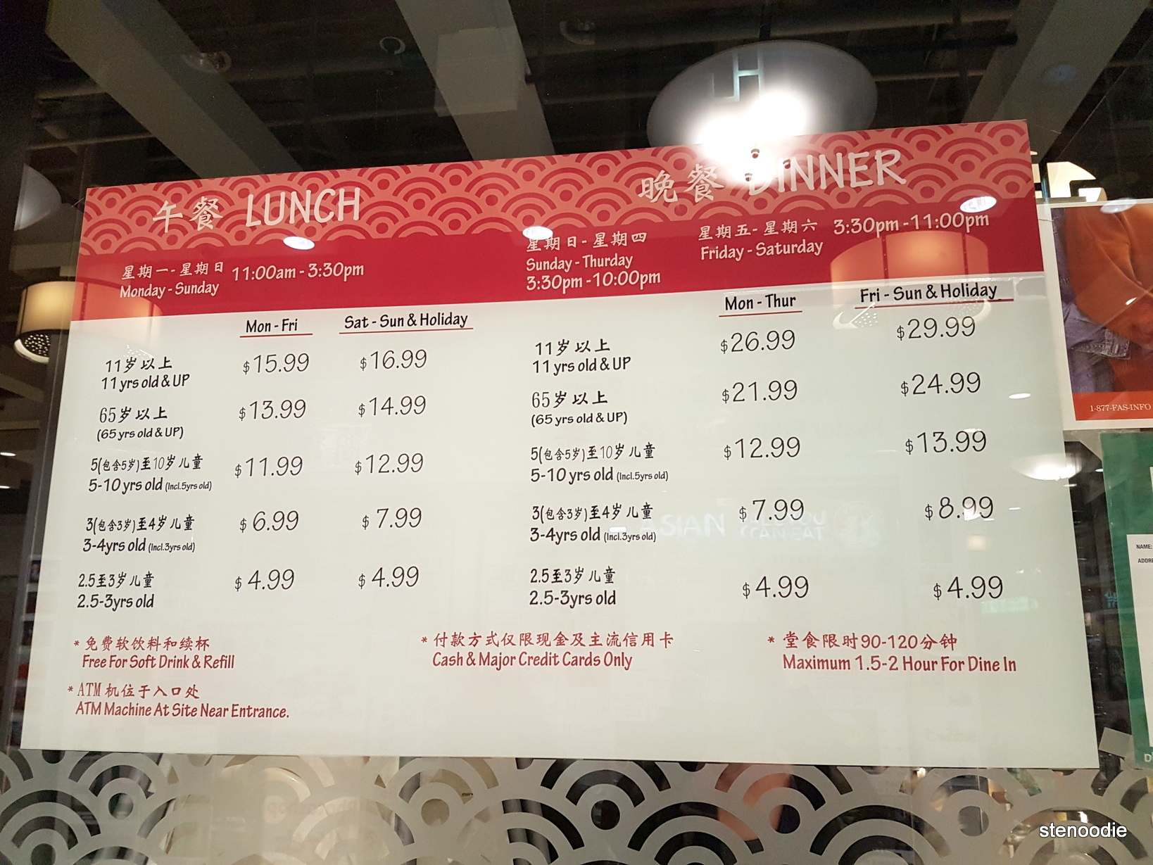 Ichiban Asian All You Can Eat prices