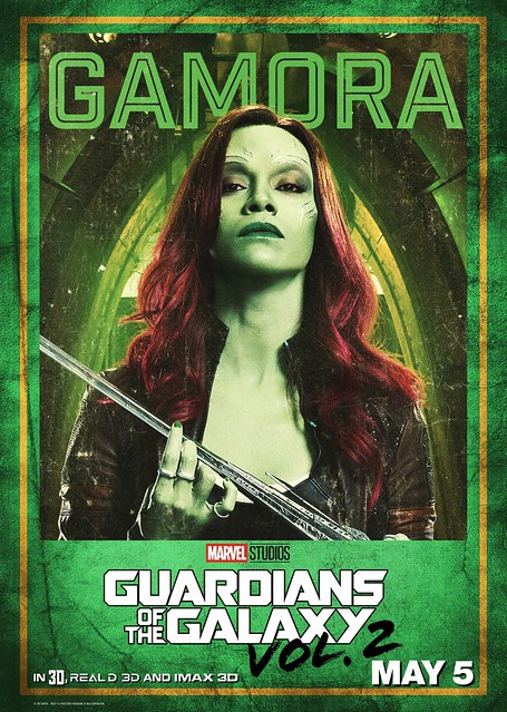 Guardians of the Galaxy Vol 2 (2017) poster Gamora