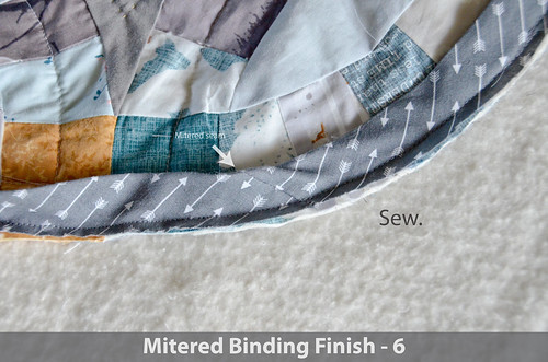 DWR:: Mitered Binding 6: Sew remaining bias to top of quilt as before.