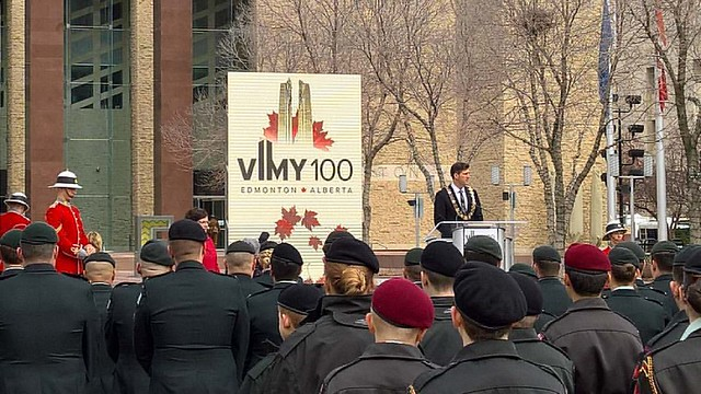 A moving and thoughtful ceremony to commemorate the 100th anniversary of the battle of Vimy Ridge