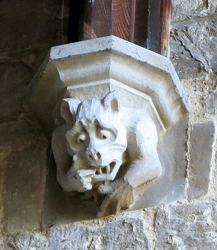 Medieval corbel, the Church of St Peter and St Paul, Gosberton, Lincolnshire, England | by Spencer Means