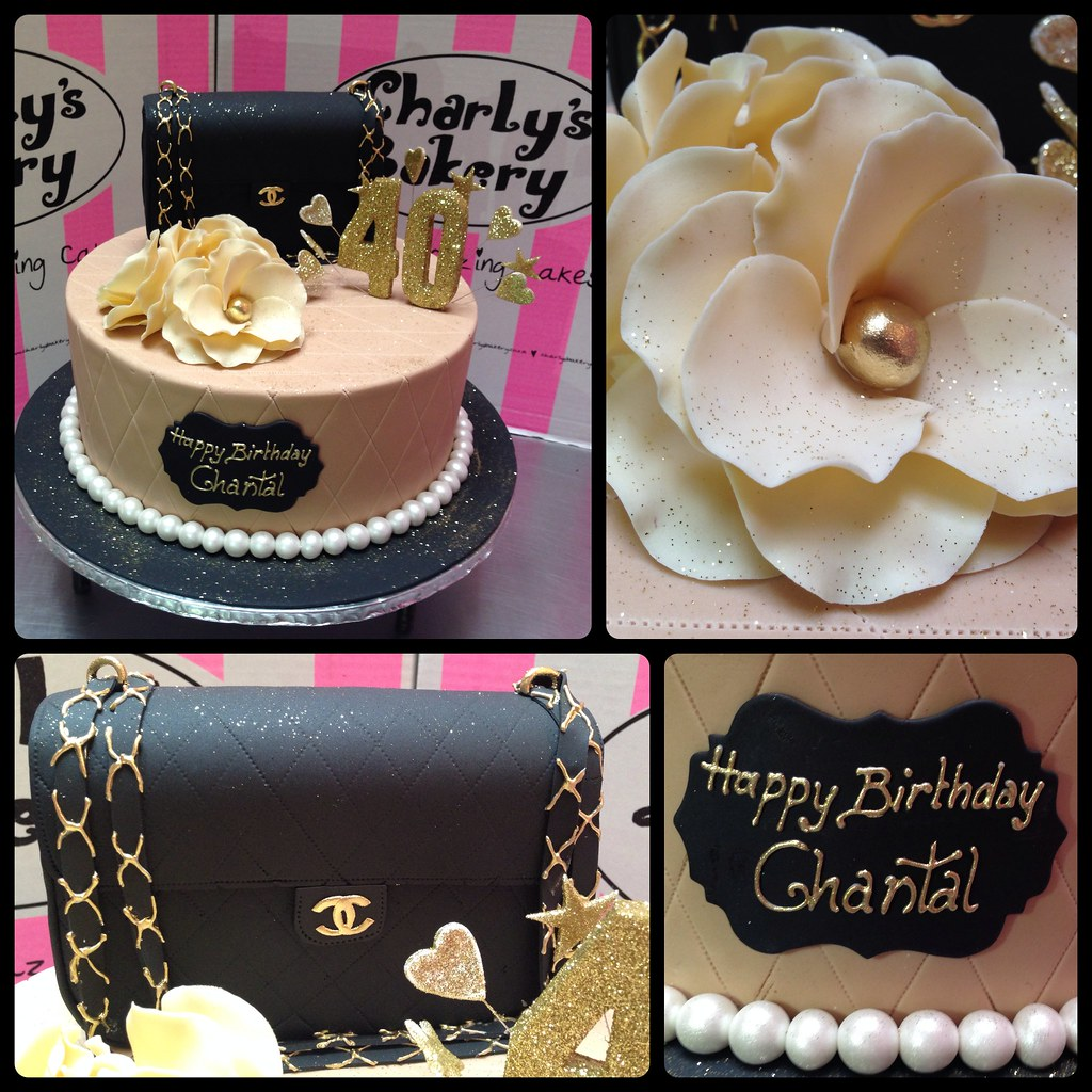 Chanel Themed 40th Birthday Cake Decorated With 3d Quilted Flickr