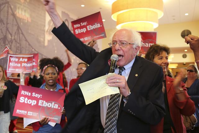 Sen. Bernie Sanders Ebola March