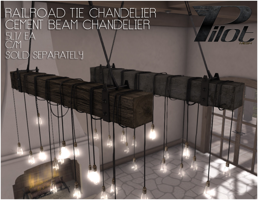 ... PILOT   Railroad Tie Chandelier And Cement Beam Chandelier | By PILOT    Kaz Nayar