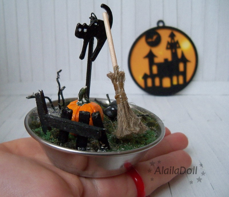miniature halloween decorations by alailadoll miniature halloween decorations by alailadoll
