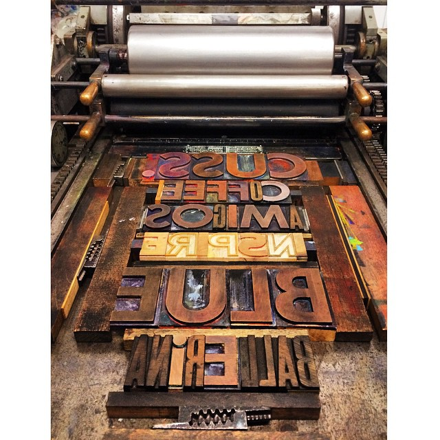 huge discount 1d7e0 1cba4 Letterpress class número uno. Wanna guess which word is mi ...