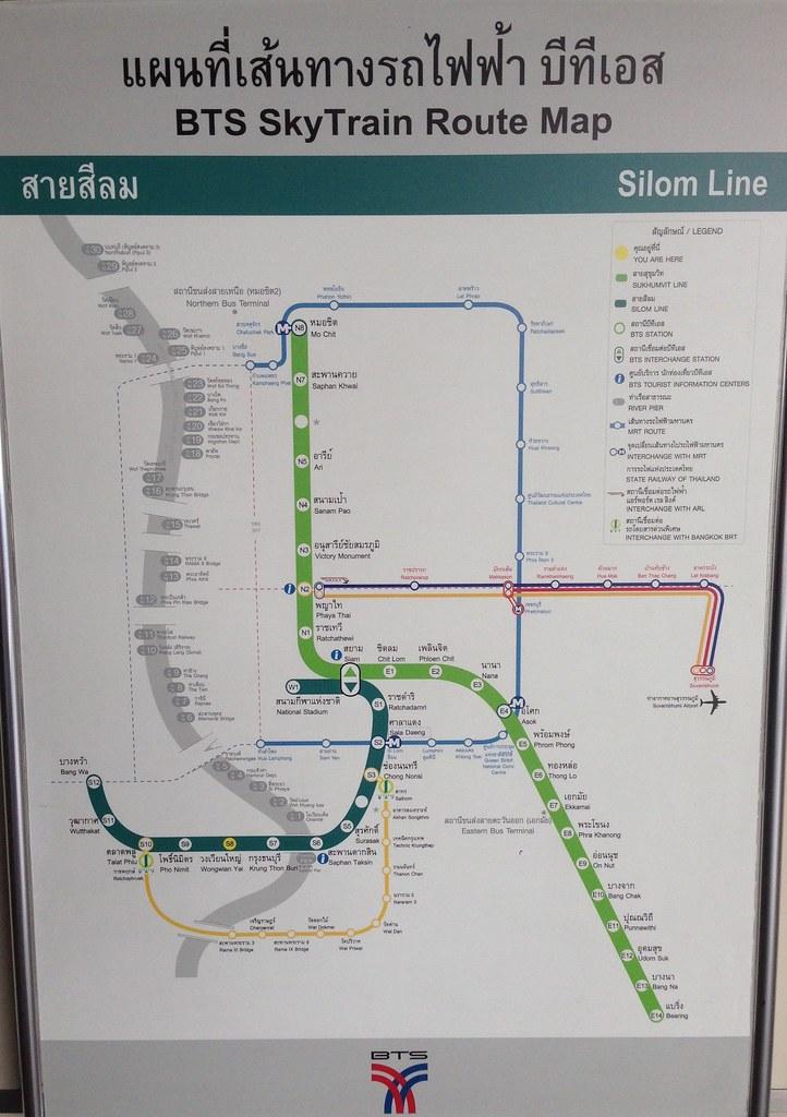 Bangkok BTS map (10/14) | The Bangkok Skytrain (BTS) keeps e… | Flickr