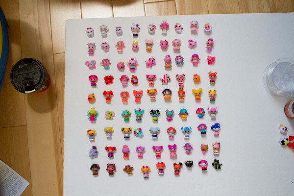 Lalaloopsy Tinies Display: color orders