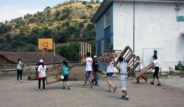 Landscape Works and Construction Team at Kargı Ferhat Akbulut Primary School