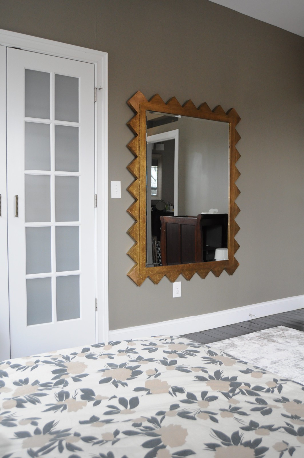 Zig Zag Dream Mirror in Master Bedroom