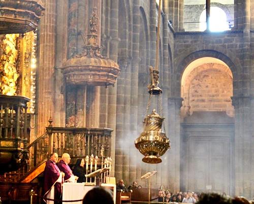botafumeiro catedral de santiago de compostela from