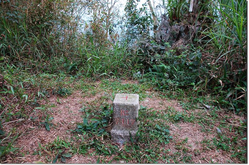 桑留守山三等三角點(# 7117 Elev. 1042 m) 1